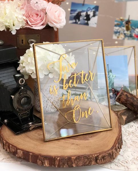 Gold geometric photo frames