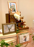 Wooden glass photo frames