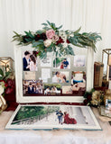 White victorian frame for photo display