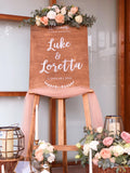 Rustic blush & gold theme welcome signage package