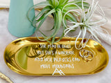 Trinket tray with customised words