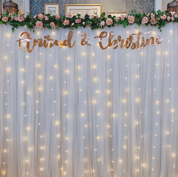 Customised couple name banner
