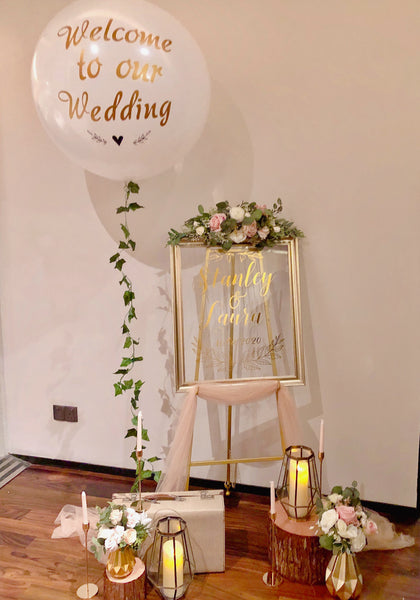 Blush & gold theme welcome signage package