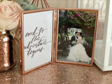 Rose gold foldable photo frame