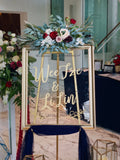 Navy blue & burgundy theme welcome signage package