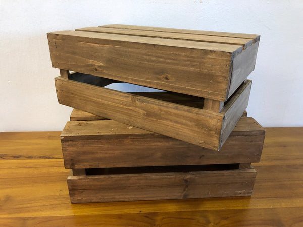 Medium dark wooden crate
