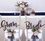 Flower posies for solemnization chairs