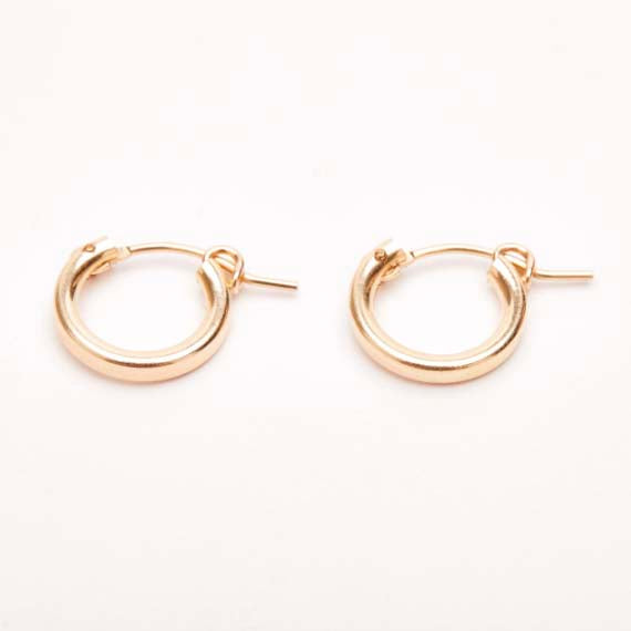Yellow Gold | Small Hoop Earrings