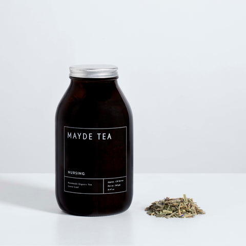 Nursing Lactation Breastfeeding Mayde Tea Handmade Organic Loose Leaf 120 Serves Large Amber Jar Australian Made Chasing Mila