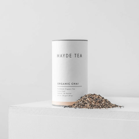 Organic Chai Mayde Tea Chamomile Handmade Loose Leaf Tea 40 Serves Retail Tube Chasing Mila Black Pepper Clove Cinnamon