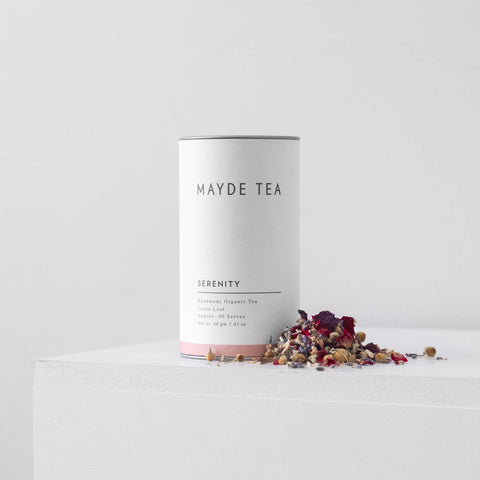 Mayde Tea Serenity Tea Sleep Organic Natural Loose Leaf Chasing Mila Gift Handmade Australian Made 40 Serves