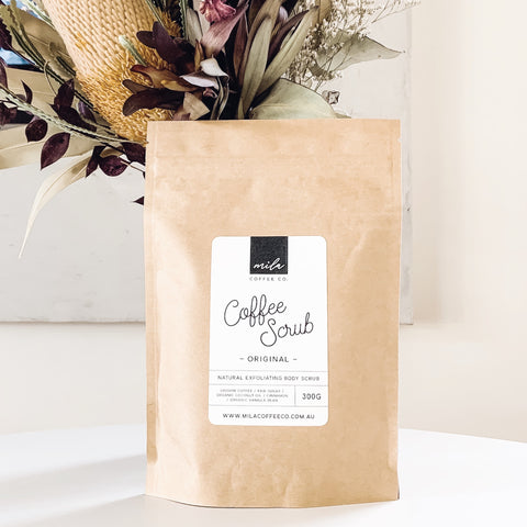 Coffee Scrub Mila Coffee Co. Exfoliating Natural Body Scrub 300g Original Ground Bath Skincare