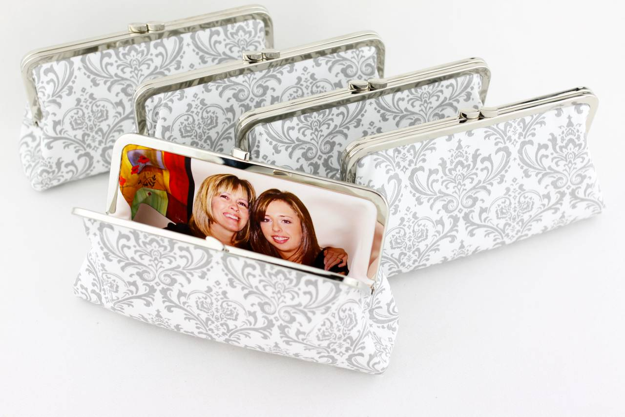 Personalised Photo Clutch for the mother of bride and Groom | PINKOASIS