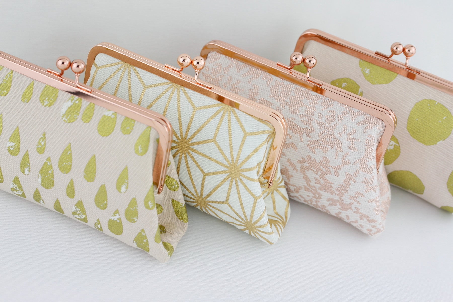 Rose Gold Bridesmaids Clutches, Gift for Wedding | PINKOASIS