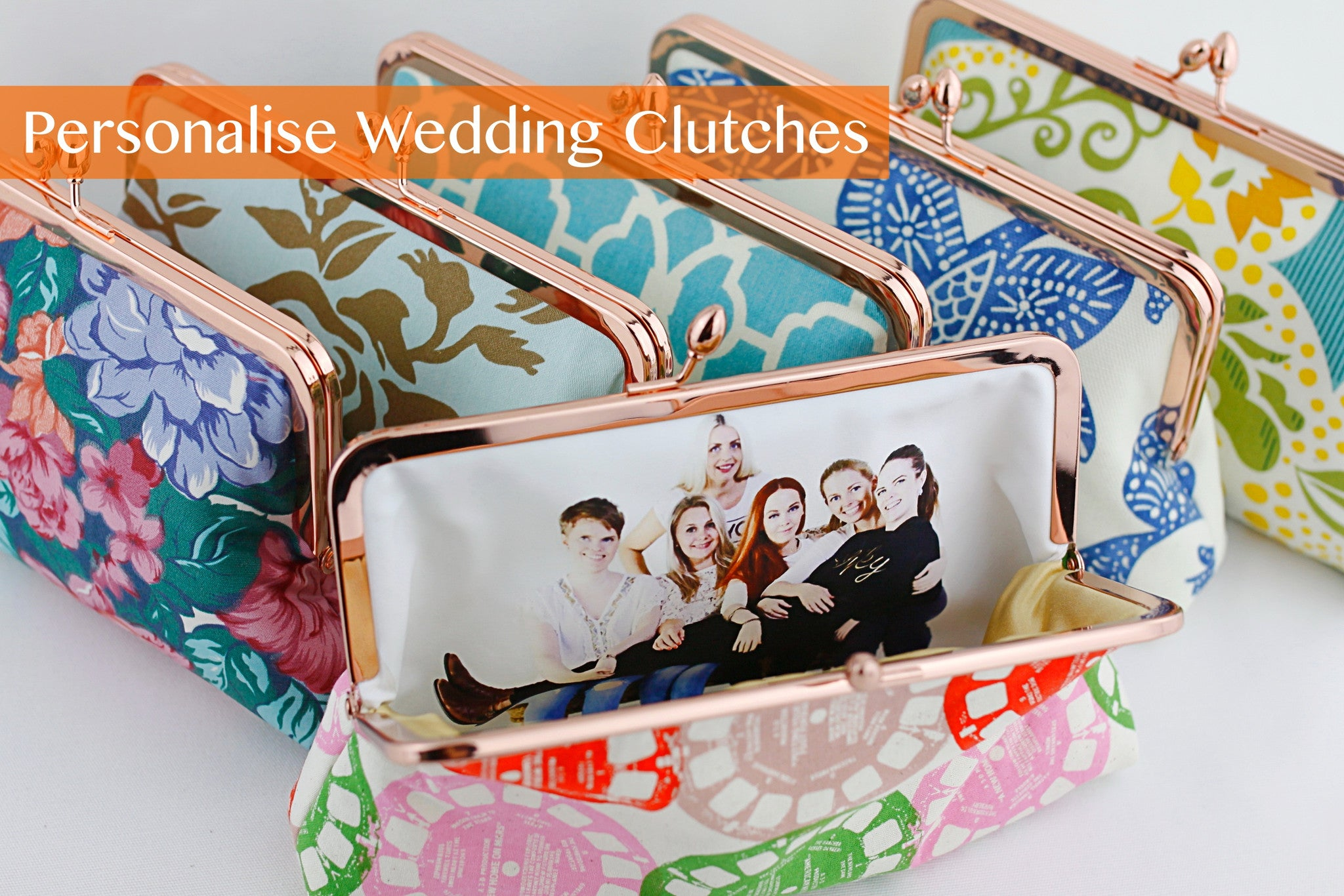Personalised Photo Clutch for bride & bridesmaids | PINKOASIS