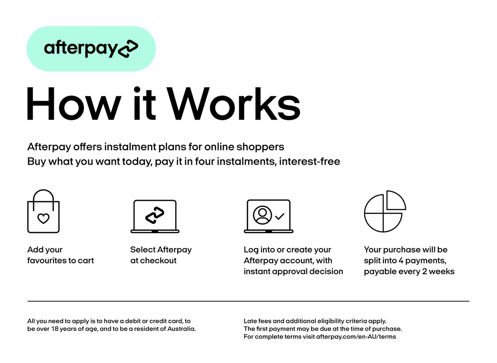Afterpay How it Works on PINKOASIS