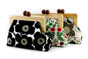 Wooden Frame Clutch Bags with Strap Handmade Gift for Her | PINKOASIS