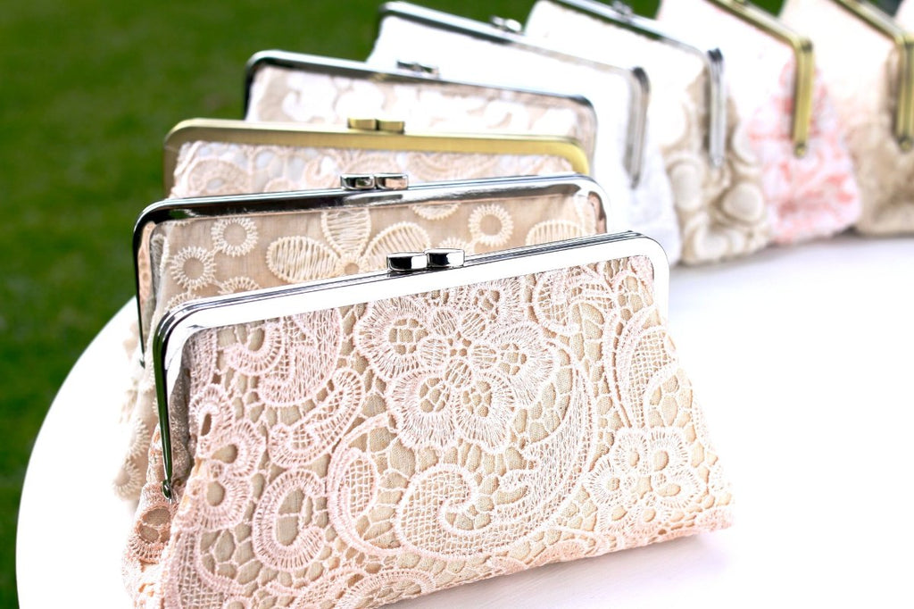 aadc014de0 lace clutches bridal clutches, personalised bridesmaid lace clutch, wedding  gift
