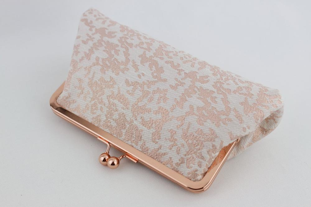 Rose Gold Wedding Clutch for your bridesmaids Gift