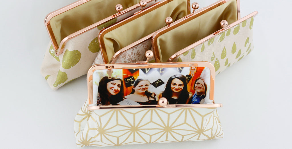 Personalised Photo Bridesmaids Clutches, Gift to bridesamaids | PINKOASIS