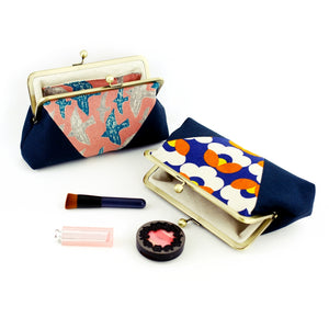 Cosmetic Kisslock Clutch Bag Handmade in Sydney | PINKOASIS
