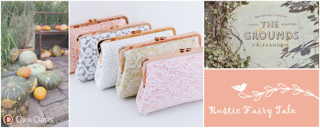 Rustic Fairy Tale Lace Wedding Clutches | PINKOASIS