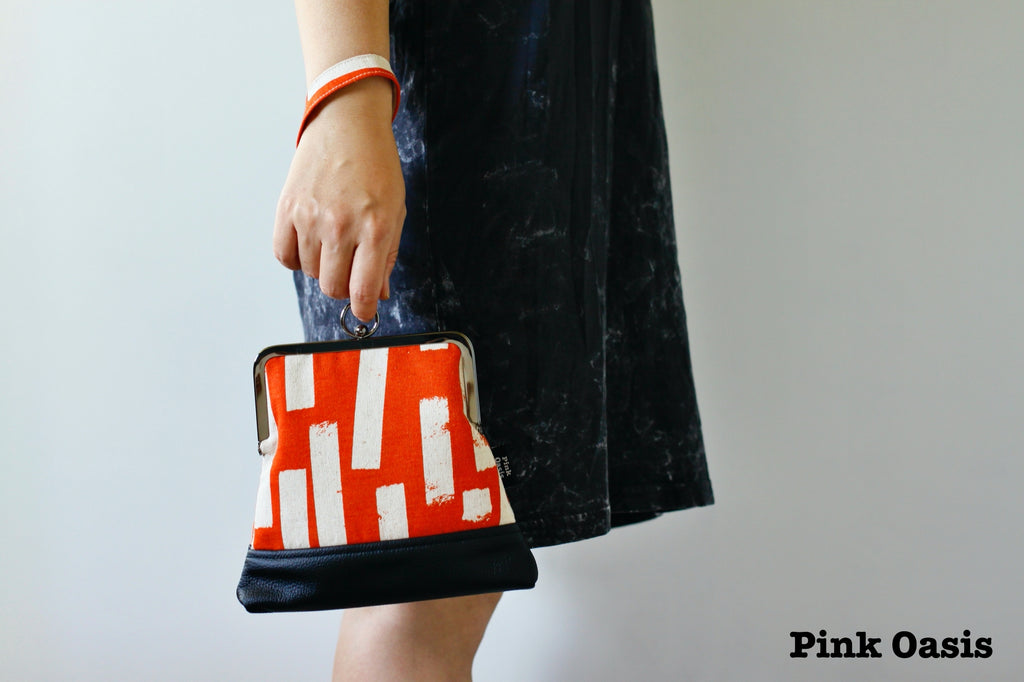 Handmade Wristlet Bag with Chain Strap | PINKOASIS
