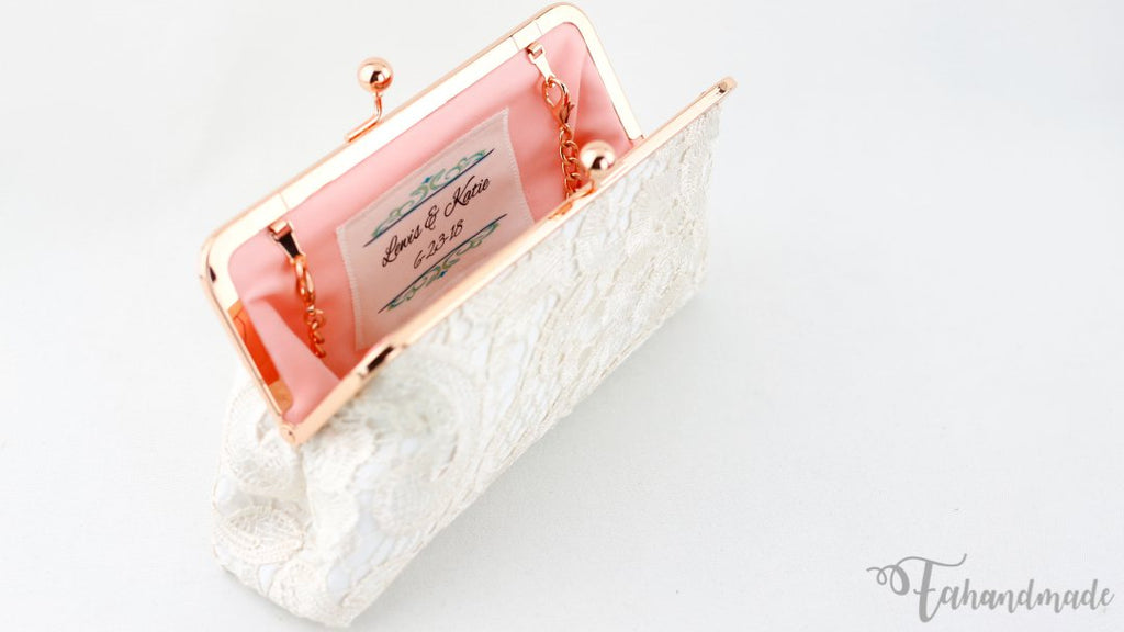 monogrammed wedding clutch for the mother of bride