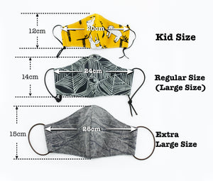 Reusable Face Mask (Kid Size) - Red Elephants