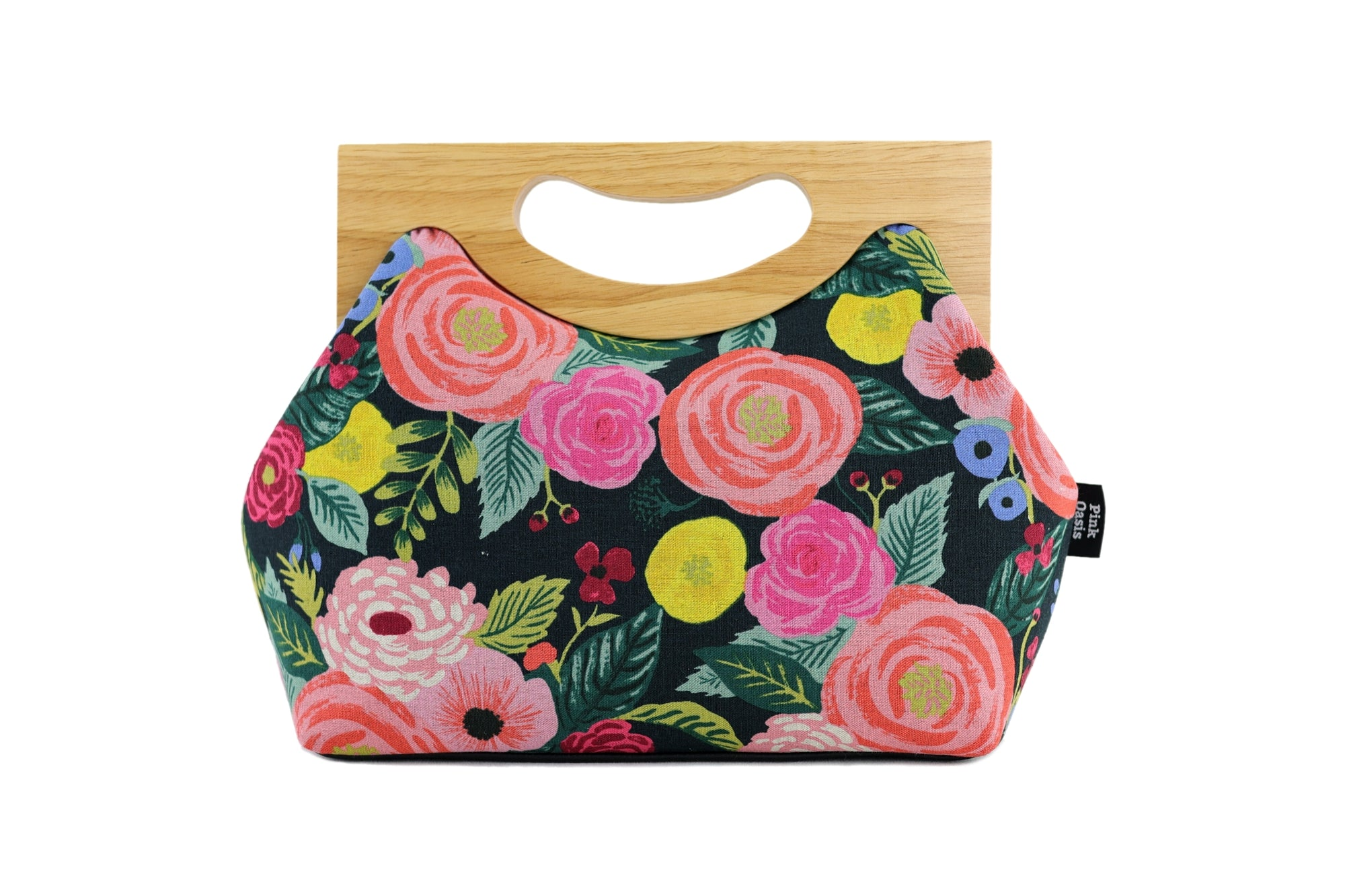 English Garden Roses Medium Women's Clutch Bag | PINK OASIS