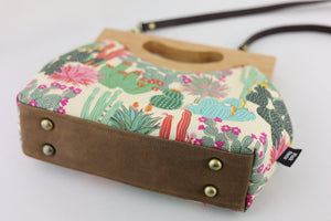 Succulents Garden Floral Medium Women's Clutch Bag | PINK OASIS