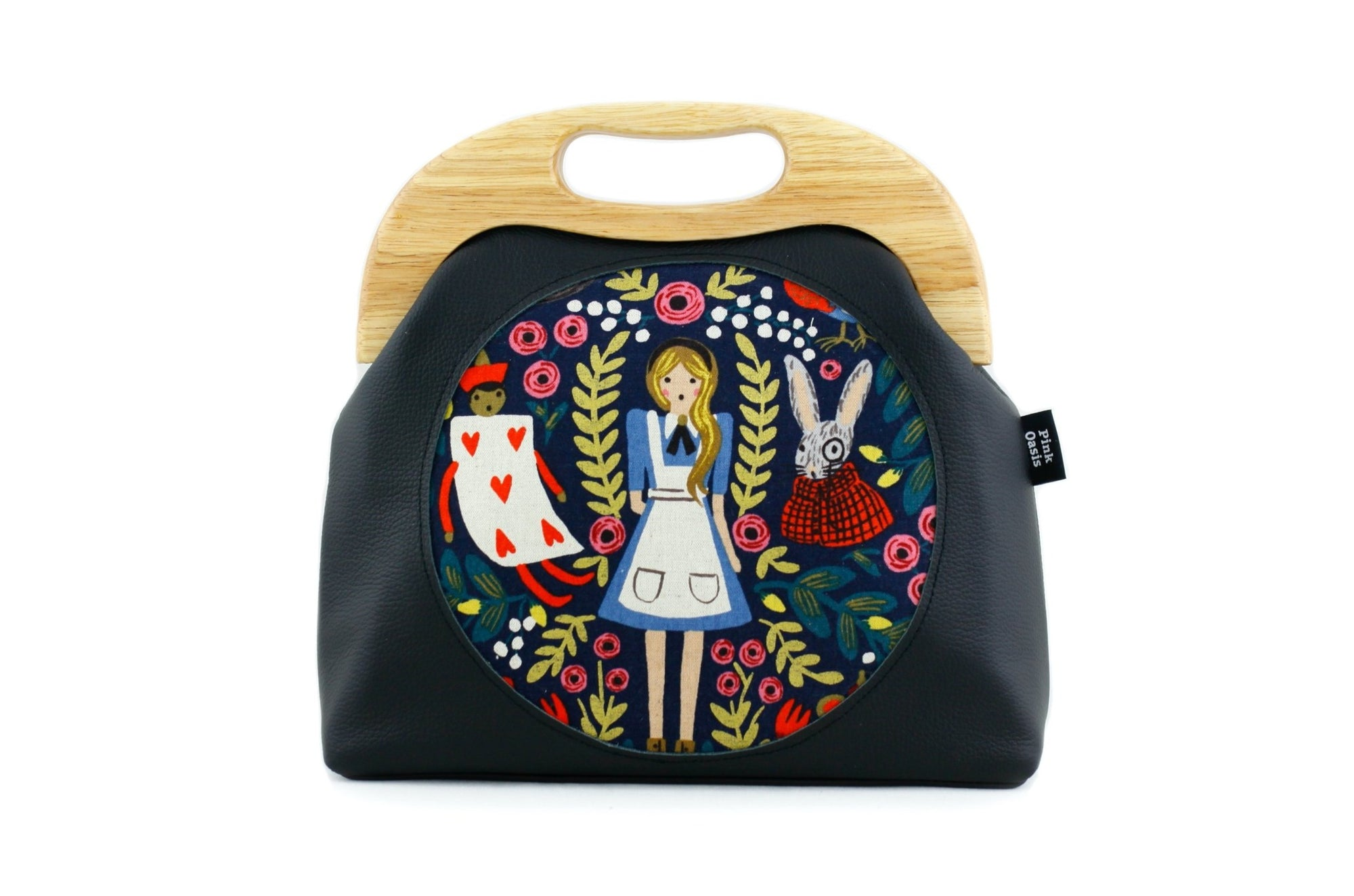 Alice in Wonderland Circle Pattern Leather Bag | PINKOASIS