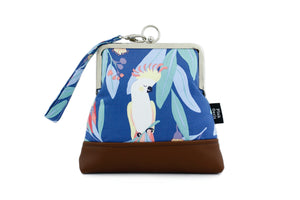 Cockatoo & Native Flower Wristlet Australian Made | PINKOASIS
