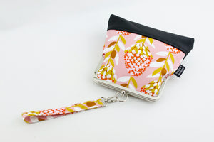 Pink Native Flower Wristlet Bag | PINKOASIS
