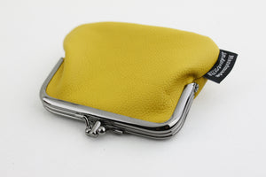 Mustard Leather Coin Purse | PINKOASIS