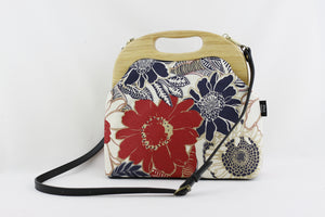 Tropical Flower Red Ladies Bag Handmade | PINKOASIS