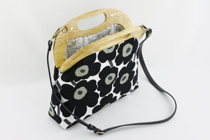 Marimekko Unikko Poppy Black & White Ladies Bag | PINKOASIS