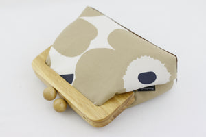 Marimekko Unikko Poppy Cream Flower Clutch Bag | PINKOASIS