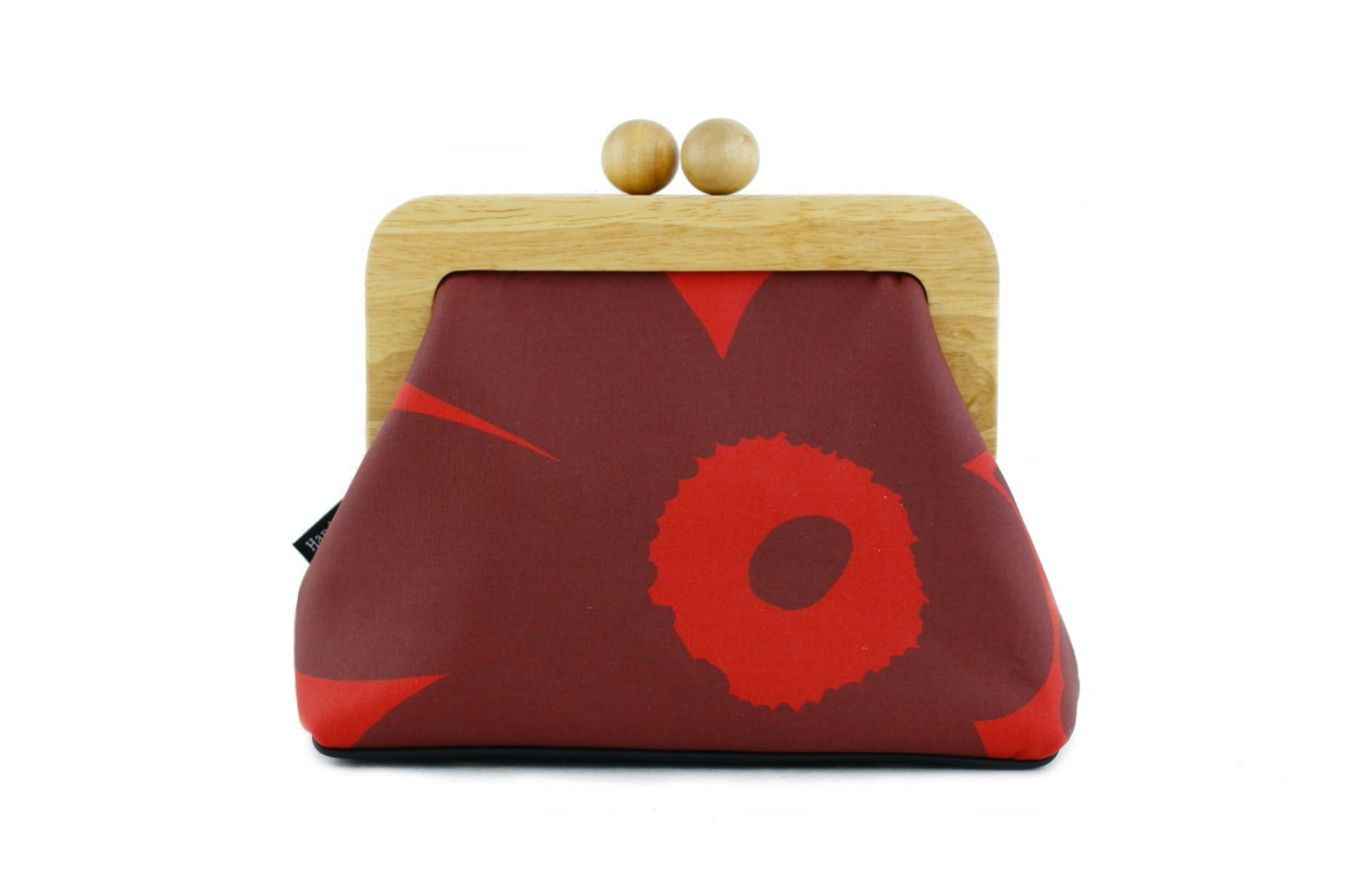 Marimekko Unikko Poppy Crimson Red Flower Clutch Bag | PINKOASIS