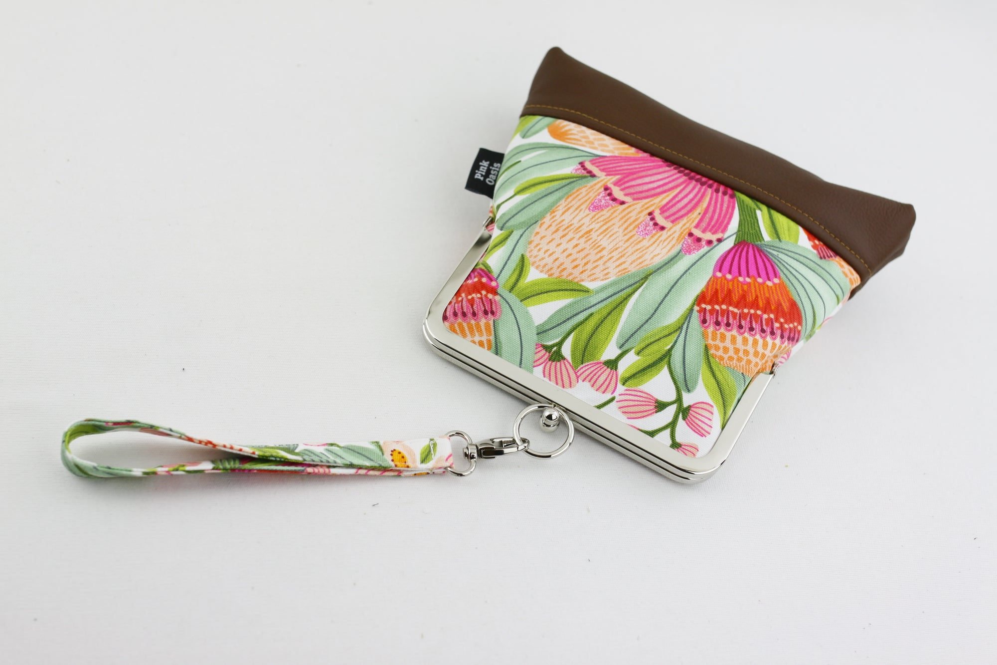 Australian Native Flower Gum Blossoms Wristlet Bag | PINKOASIS