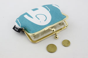 Elephant Teal and White Coin Purse | PINKOASIS