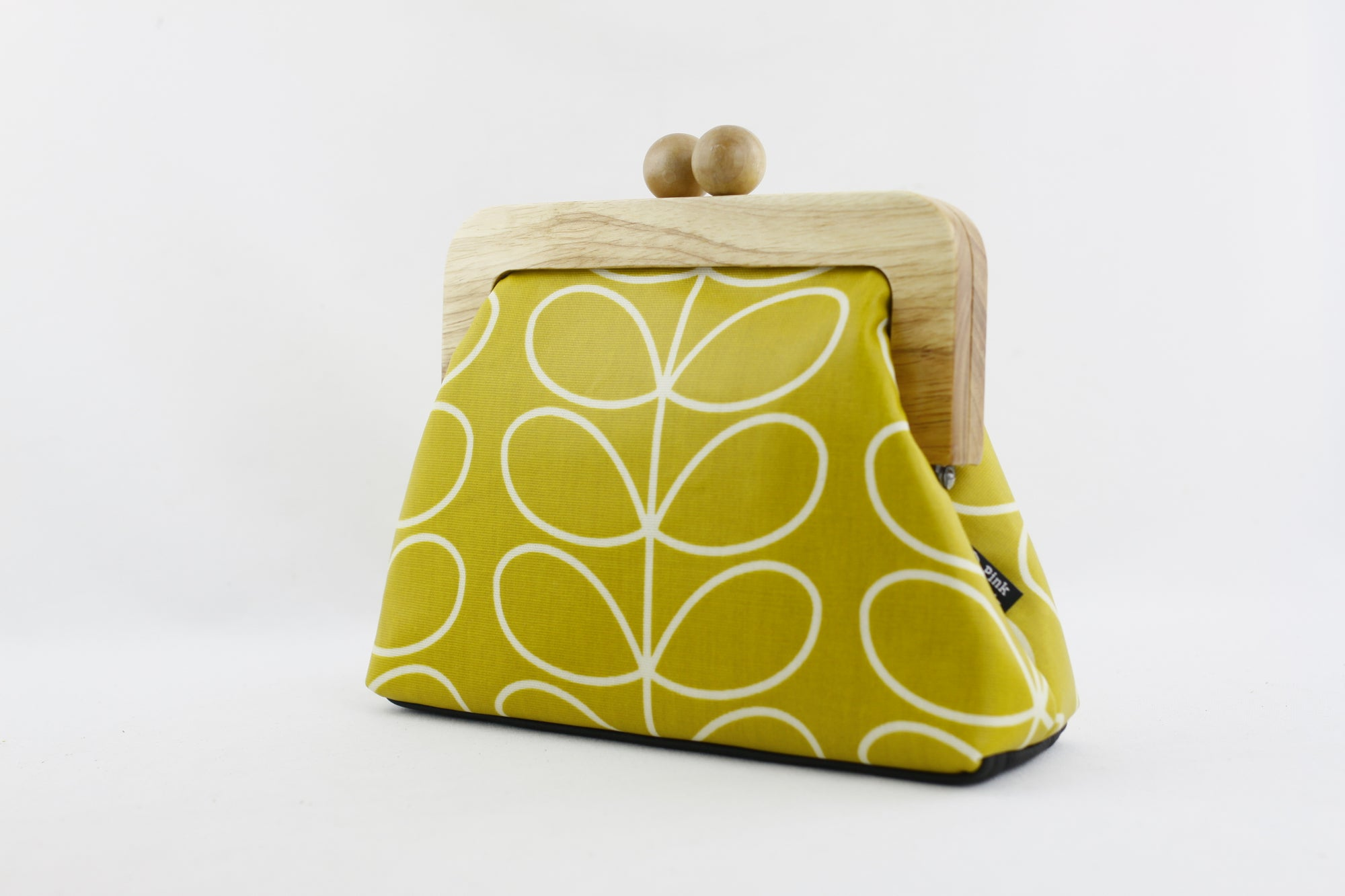 Mustard Leaves Small Wooden Frame Clutch Bag | PINKOASIS