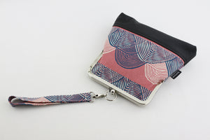 Coral Sea Waves Wristlet Handbag | PINKOASIS