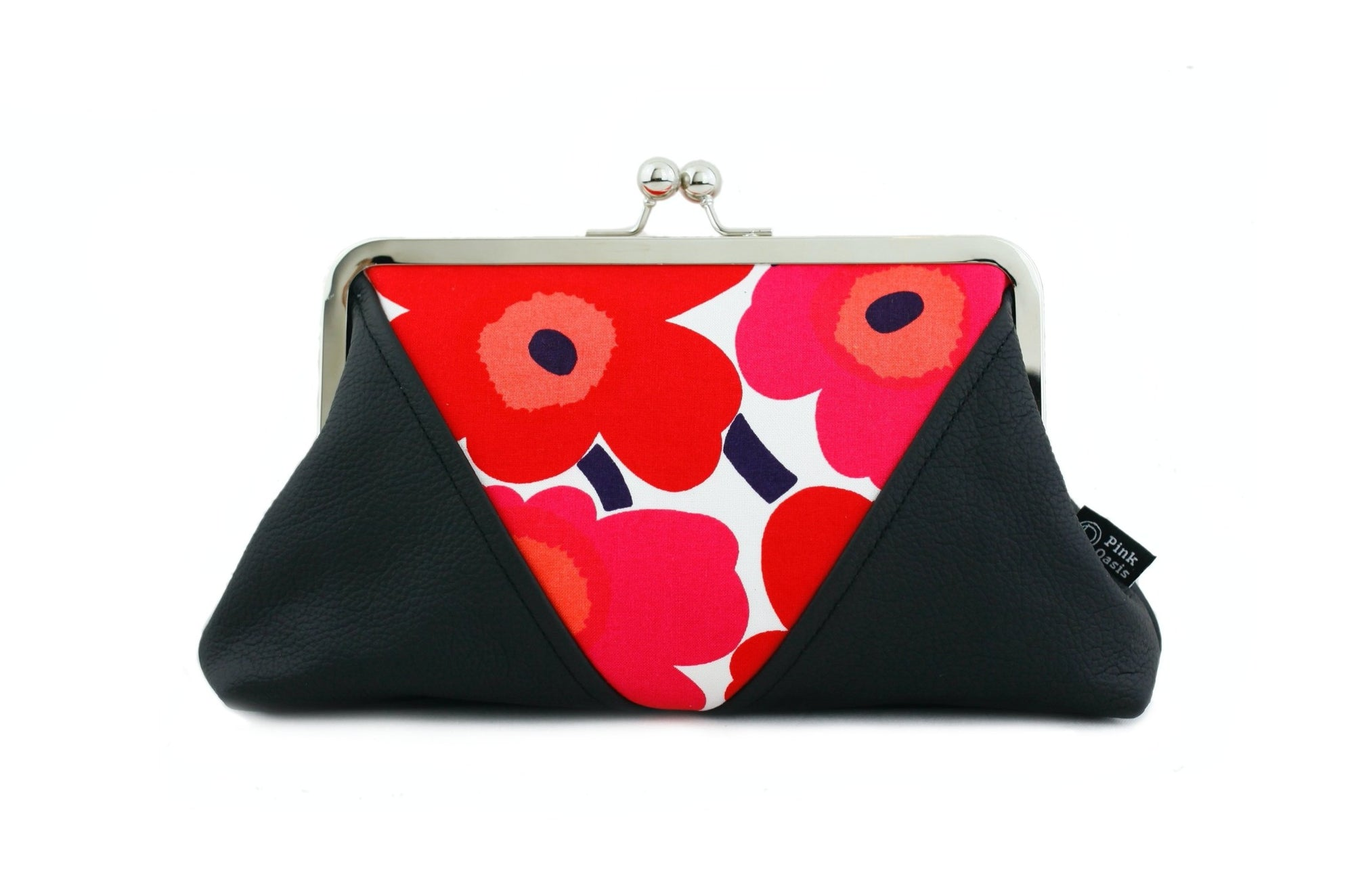 Unikko Poppy Red Kisslock Clutch & Crossbody Bag | PINKOASIS