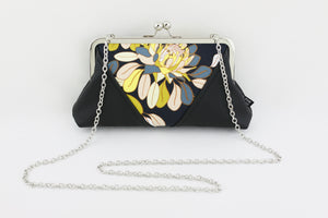 Ginger Utopia Flower Kisslock Clutch & Crossbody Bag | PINKOASIS