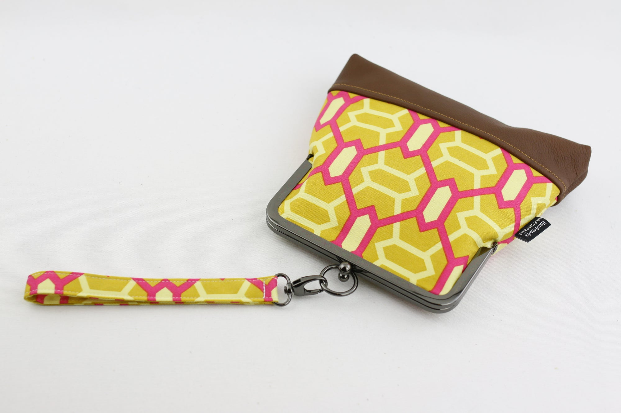 Fuchsia & Gold Unique Pattern Wristlet | PINKOASIS