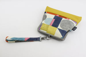 Block Letters Yellow Wristlet Bag | PINKOASIS