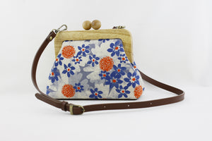 Sakura Flower Small Wooden Frame Clutch Bag | PINKOASIS
