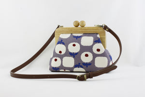 Little Flowers Small Wooden Frame Clutch Bag | PINKOASIS