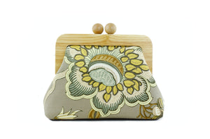 Rustic Flower Small Wooden Frame Clutch Bag | PINKOASIS
